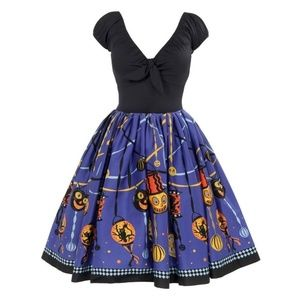 Pinup Couture Natalie Dress- Halloween Lantern